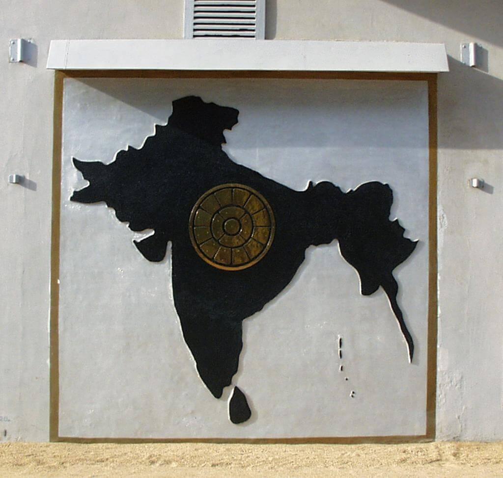 अखंड भारत का नक्शा श्रीअरविंद आश्रम