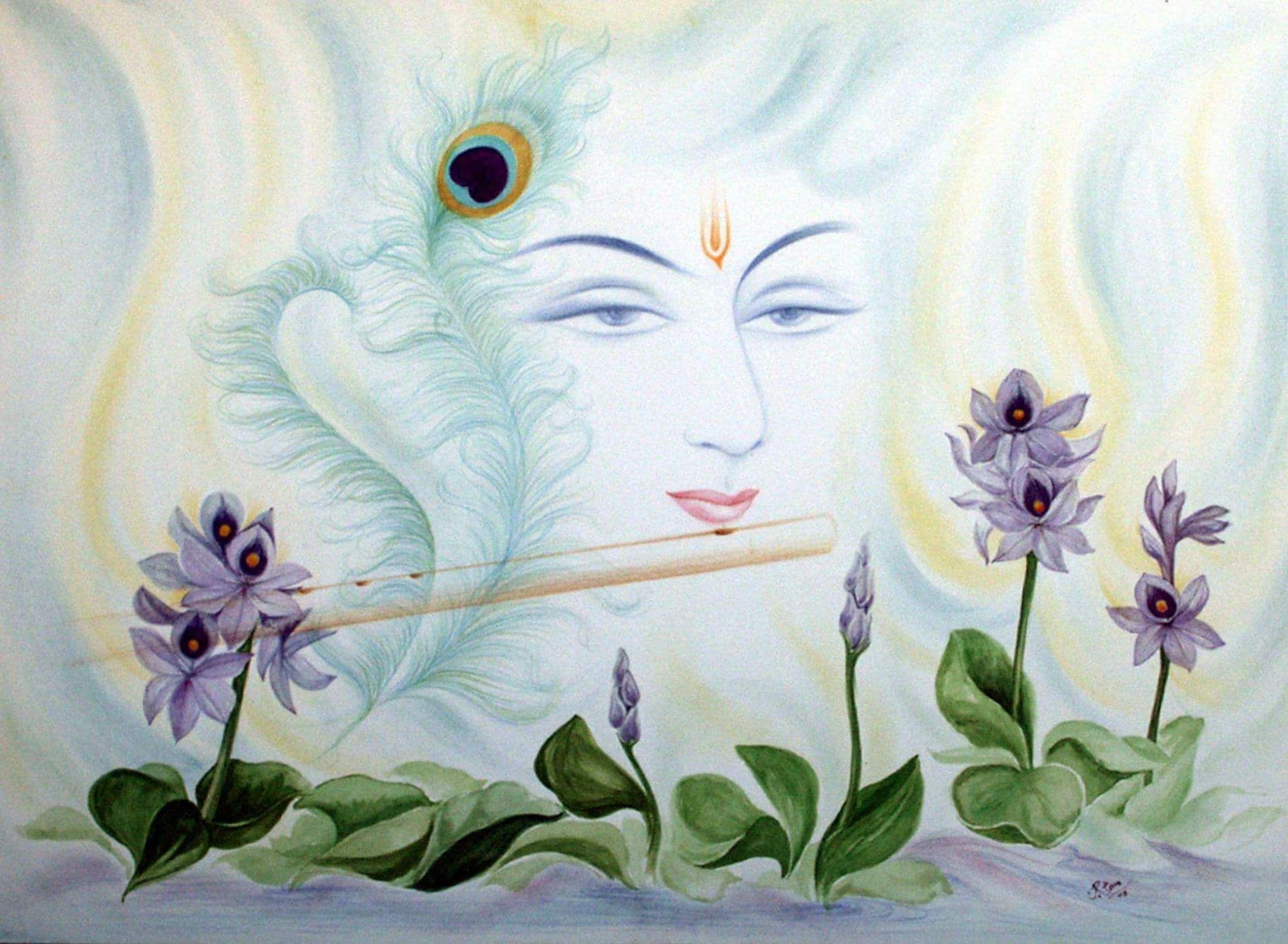 श्रीकृष्ण का चित्र ऋतम उपाध्याय द्वारा